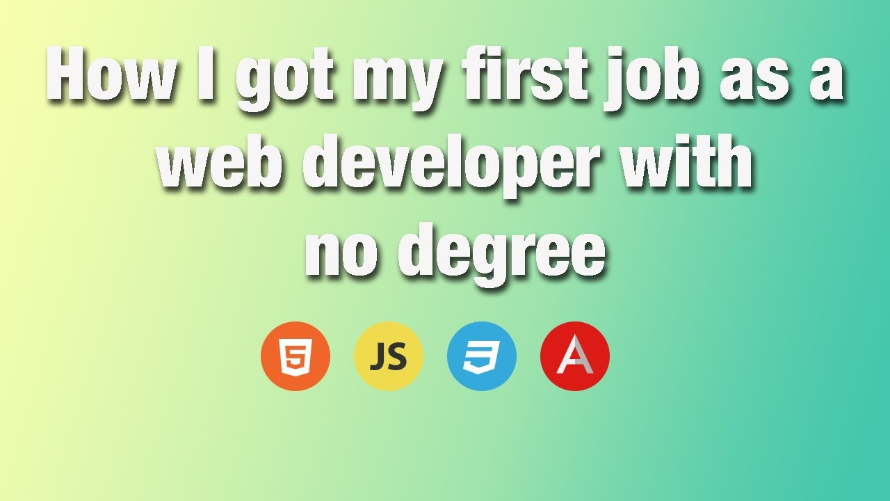 How To Get A Web Design Job Without A Degree