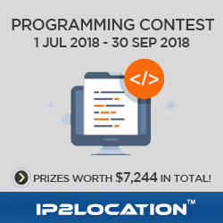 Programming contest sponsored by IP2Location