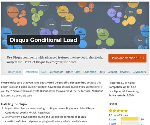 PageSpeed Disqus Conditional Load Plugin