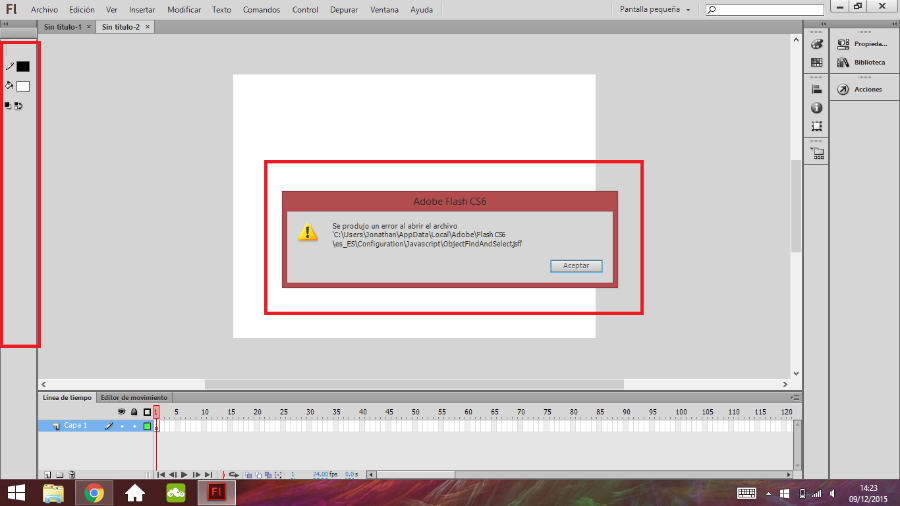 Flash+cs6+error