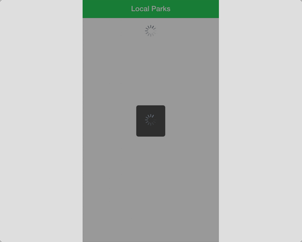 Ionic Loader Overlaying the App