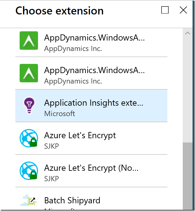 Azure Application Insights Extension