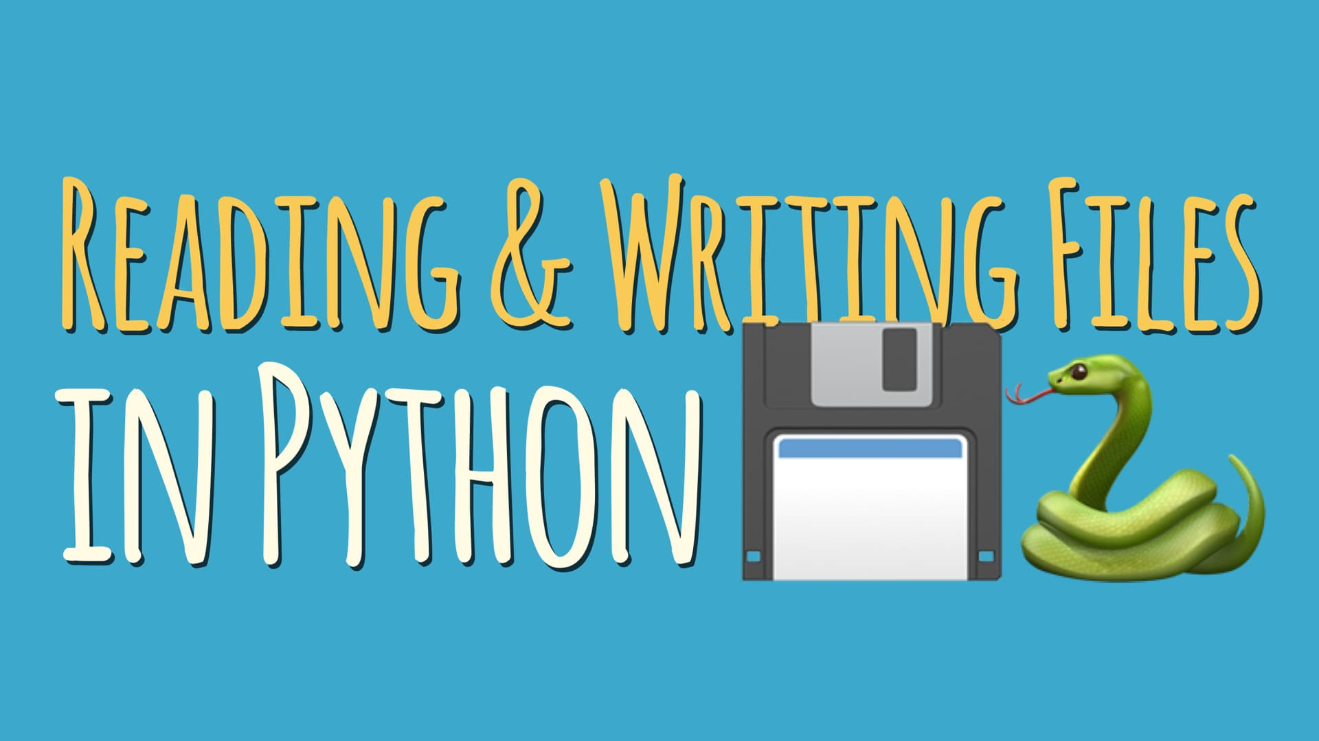 Reading and Writing Files in Python